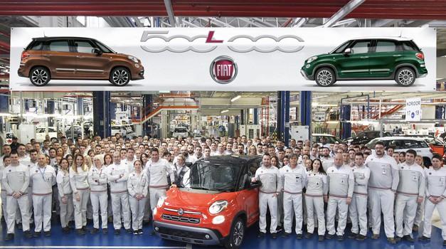 Kragujevška tovarna praznuje 500.000 izdelanih Fiatov 500L (foto: FCA)