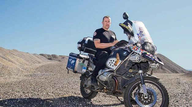 Motorist Željan Rakela v Ljubljani o svojih 300.000 kilometrih (foto: Željan Rakela osebni arhiv)