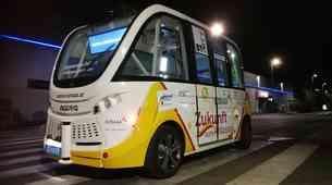 V nakupovalnem središču BTC je zapeljal prvi avtonomni avtobus