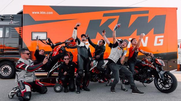 KTM in Rok Bagoroš moto vplivneže z vsega sveta povabila v Mursko Soboto (foto: Janez Kocbek)