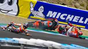 MotoGP, VN Španije: Marquez v ospredju, za njim drama