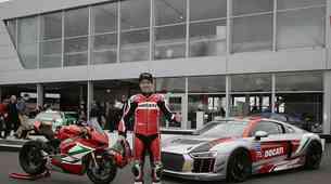 Carlos Checa Audijev gost in dirkač na dirki na Nürburgringu