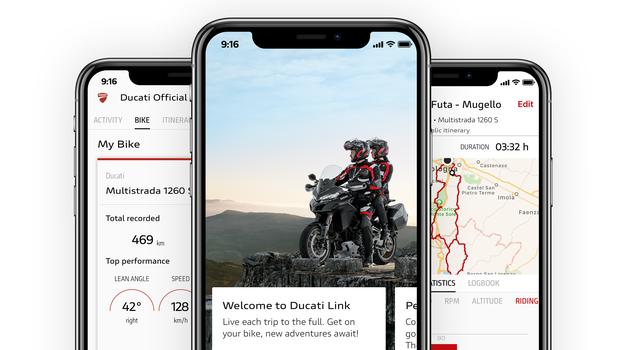Ducatiji so postali družabni, z aplikacijo Ducati Link App lahko celo nastavljate motocikel (foto: Ducati)