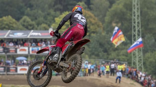 MXGP, Češka: Gajser petič v sezoni na stopničkah, zmagal kdo drug kot Herlings (foto: Honda HRC)