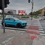 Novi Porsche Macan opažen med snemanjem oglasa v Ljubljani (foto: Matic Križnik)