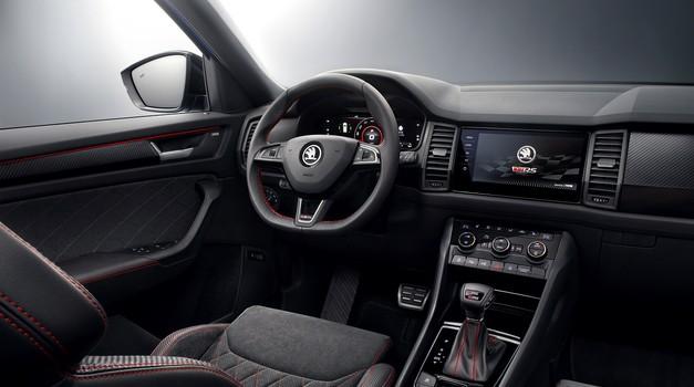 Škoda Kodiaq vRS je pokazala svojo notranjost (foto: Škoda)