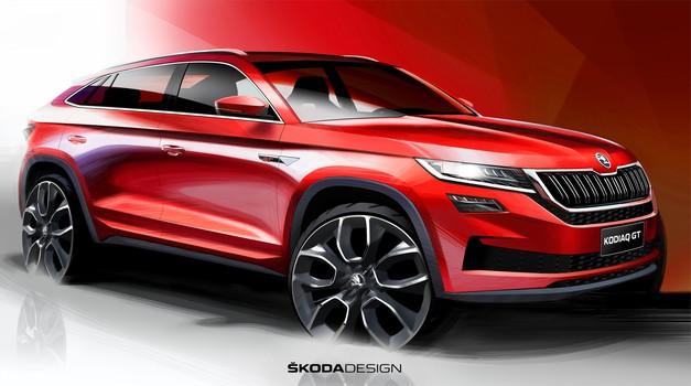 Škoda sledi Audiju in predstavlja svoj kupejevsko oblikovan SUV; prihaja model Scala (foto: Škoda)