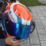 Čelada z Markovo osebno grafično podobo (foto: Jure Šujica)