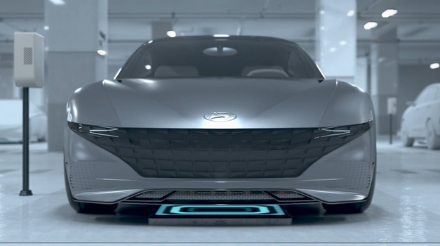 Hyundai in Kia predstavljata rešitev za brezžično polnjenje električnih avtomobilov (foto: Hyundai)