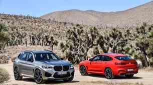 BMW X3 M in X4 M sta odvrgla krinko in razkrila zmogljivosti