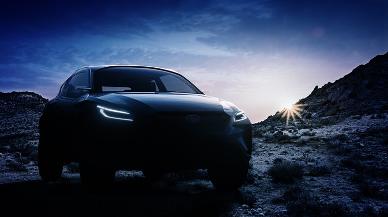 Subaru Viziv Adrenaline Concept odlaga tančico (foto: Subaru)