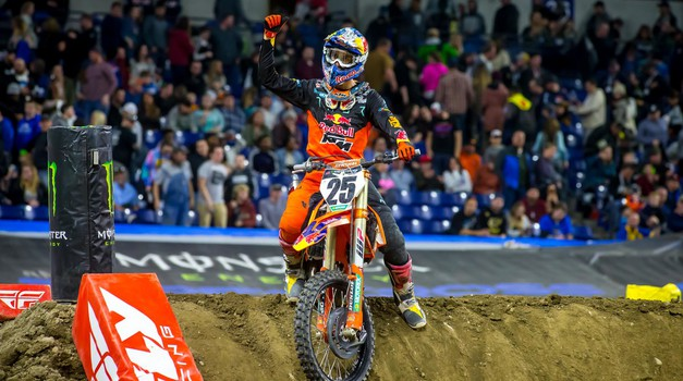 Monster Energy Supercross: veselje Musquina v Indianapolisu (foto: Simon Cudby)