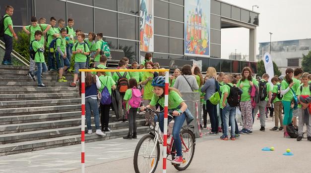 Akcija Varno na kolesu za večjo varnost več kot 3.300 šolarjev (foto: Varno na kolesu)