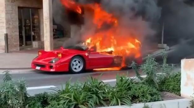 Video: Ferrari F40 izginil v plamenih (foto: Youtube: Maremma Racing)