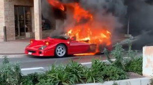 Video: Ferrari F40 izginil v plamenih