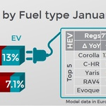 Januarja skoraj vsak sedmi elektrificiran (foto: Jato Dynamics)