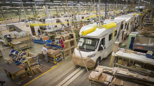 Adria mobil obuja proizvodnjo, za varnost bo poskrbljeno (foto: Adria mobil)