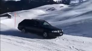 Video: Audi brez težav po smučišču - tudi ko ne snema reklam