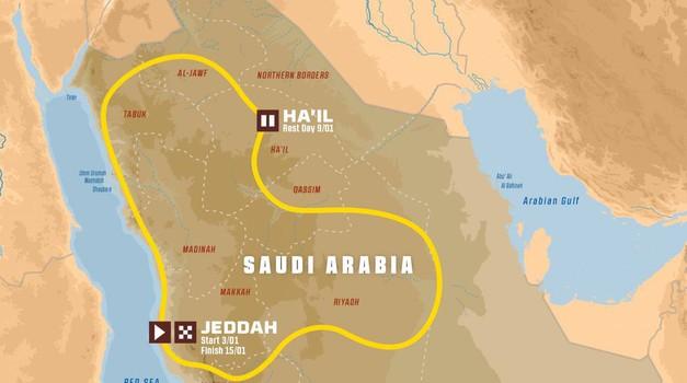 Dakar 2021: ena država, 12 etap in 6 zadnjih gum