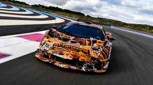 Lamborghinijeva dirkaška specialka še zadnjič pred predstavitvijo napenja mišice (video)