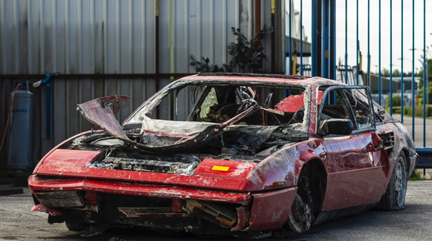 Bo potopljeni Ferrari postal atrakcija v živalskem vrtu? (foto: Youtube: ratarossa)