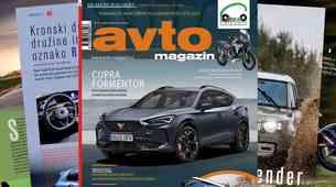 Izšel je novi Avto magazin: Vozili smo: cupra Formentor in Leon; test: Land Rover Defender...