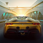 Premiera: prvi Ferrarijev priključni hibrid kokipt nastavil soncu (foto: Ferrari)