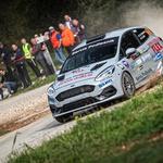 Fiesta rally4 (Podlesnik-Iljaž) se je izkazala kot izjemno hiter dirkalnik na takšni podlagi. (foto: Uroš Modlic)