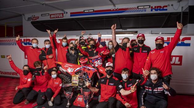 """Tim Gajser: """"Letošnja sezona je bila zagotovo ena izmed težjih, a nam je uspelo!"""" (foto: Bavo Swijgers (Honda))"""