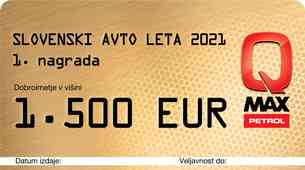 Slovenski avto leta - znane tudi lepe nagrade!