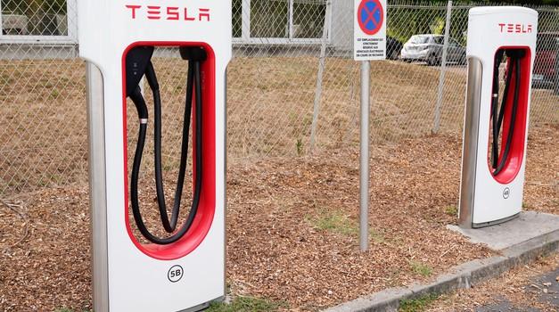Dodgev poltovornjak s 'krizo identitete' zasedel Teslino električno polnilnico (foto: Profimedia)