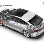 V primerjavi s predhodniki je sodoben štirikolesni pogon kompaktnejši, lažji in na cesti tudi učinkovitejši. Kljub temu pa še vedno zavzema precejšnji del prostora in povečuje maso vozila. (foto: Audi)