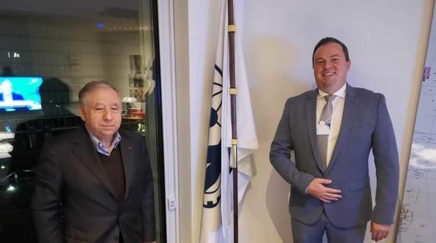 Jean Todt, predsednik FIE, in Rado Raspet, predsednik zveze AŠ2005 (foto: Aš2005)