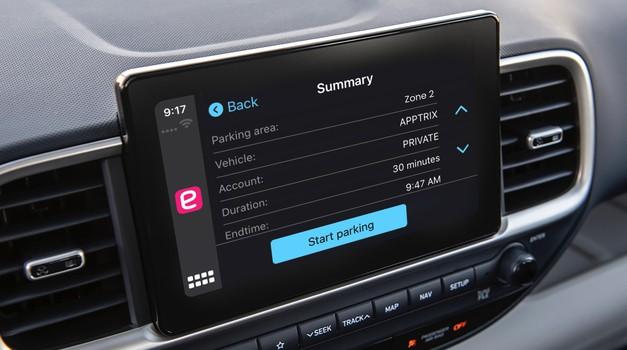 Za uporabnike Applovih telefonov bo plačevanje parkirnine po novem nekoliko lažje (foto: EasyPark)