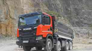 VOZILI SMO: Scania XT G 450 B8x4 HA - Posebnež med gradbinci