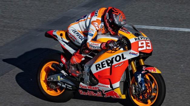 Marquez v Katarju vendarle zgolj med gledalci (foto: Honda)