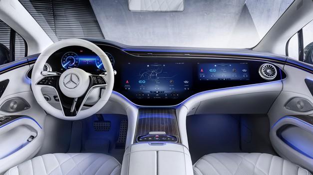 Pred premiero: Mercedes-Benz EQSS - ko armaturno ploščo zamenjajo zaslon(i) (foto: Mercedes-Benz)