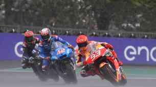 MotoGP, VN Francije - Ples v dežju