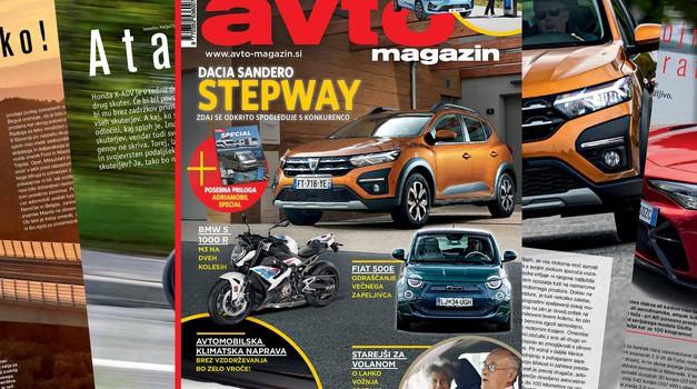 Izšel je novi Avto magazin: 30. obletnica Slovenije, starejši za volanom... posebna priloga: Adria Mobil
