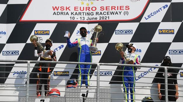 2021 WSK EUROSERIES, ADRIA (ITA): Vrhunski rezultat Marka Kastelica! (foto: arhiv Kastelic)