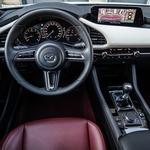 Rdeče talne obloge in rdeče usnje na sedežih. Lepo je videti, da še vedno obstajajo avtomobilski proizvajalci, ki si drznejo nekoliko tvegati. Črno-bela armaturna plošča le še doda h kontrastu. (foto: Uroš Modlic)