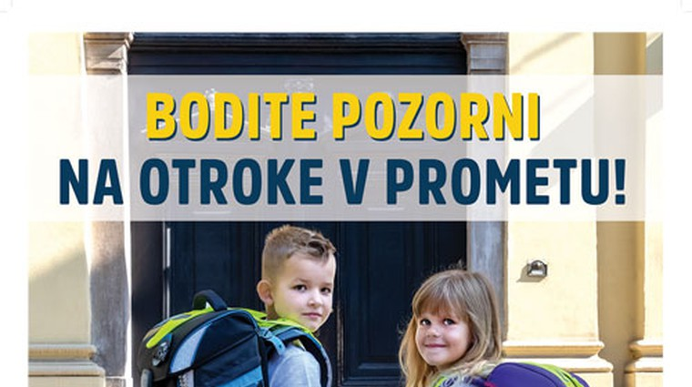 Poziv k večji prometni varnosti na prvi šolski dan – preverite, kje bodo terenske akcije (foto: Agencija za varnost prometa)