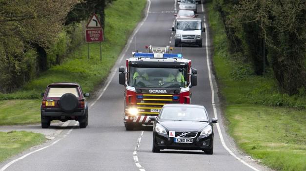 Intervencijskim vozilom se umaknimo takoj, ko je to mogoče. (foto: John Eccles)