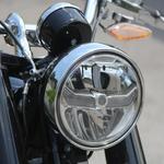 Žaromet z LED tehnologijo skriva lep detajl - logotip BMW Motorrad. (foto: Jurman)