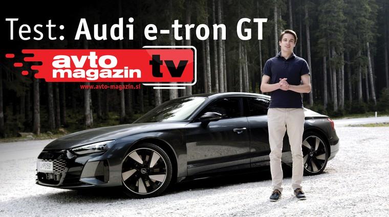 Video test: Audi e-tron GT - Avto Magazin TV (foto: Nik Gradišnik)