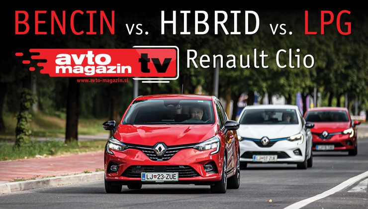 Video test: Bencin, Hibrid ali LPG? Renault Clio – Avto magazin TV