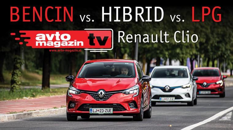 Video test: Bencin, Hibrid ali LPG? Renault Clio – Avto magazin TV (foto: Uroš Modlic)