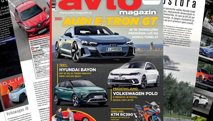 Izšel je novi Avto magazin: okvare ICE motorjev, skok cen rabljenih vozil in njegove posledice; testi: Audi E-tron, Hyundai Bayon...